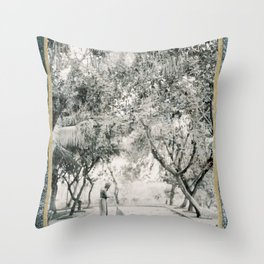 Sweeping, Sri Lanka Throw Pillow