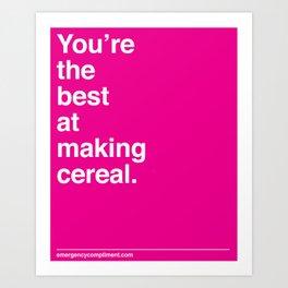 Making Cereal Art Print