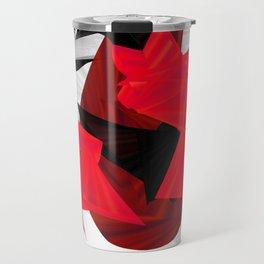 red black white silver abstract digital art Travel Mug