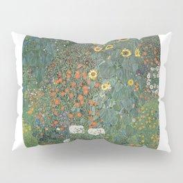 Gustav Klimt - Farm Garden with Sunflowers Pillow Sham