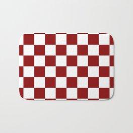 Red White Checker Bath Mat