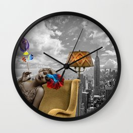 Pisces - Collage Wall Clock
