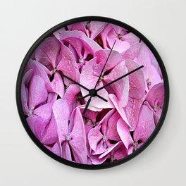 hydrangeas 8 Wall Clock