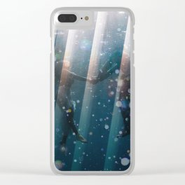 Couple Underwater Clear iPhone Case