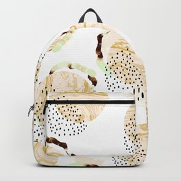 Abstract marble circles Backpack