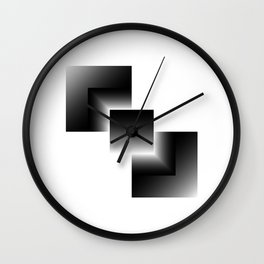 black color energy tower Wall Clock