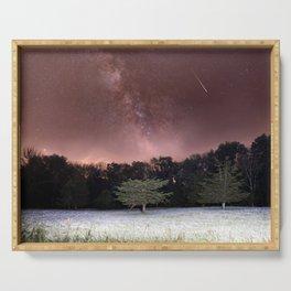 Milky Way Meteor Field Serving Tray