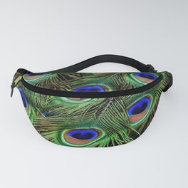 Peacock Feathers Plumage Pattern Fanny Pack