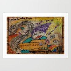 Unlock the Fear Art Print
