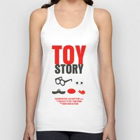 toy story Tank Tops featuring Toy Story Movie Poster by FunnyFaceArt