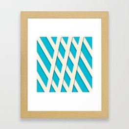 White Lattice Framed Art Print