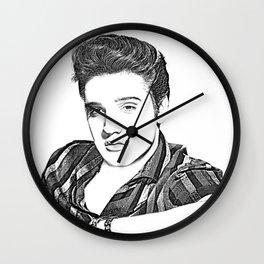 Elvis Presley in Pen and Ink Wall Clock
