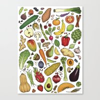 food Canvas Prints featuring Food by Sam Magee