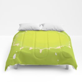 Splat on Green - by Friztin Comforters