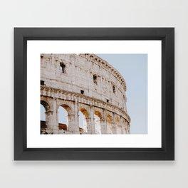 Colosseum / Rome, Italy Framed Art Print