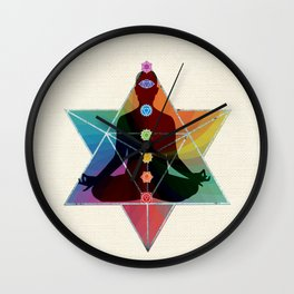 Sacred Geometry Merkaba Chakra Meditation Wall Clock