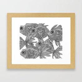 White Fish II Framed Art Print