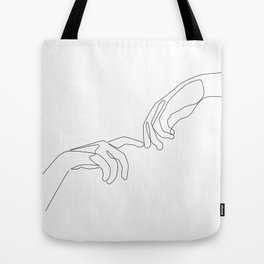 Finger touch Tote Bag