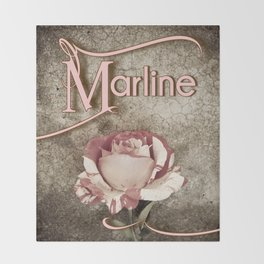 Personalized Antique Rose Throw Blanket
