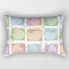 Blobby Cats Rectangular Pillow