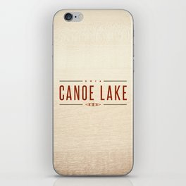 CANOE LAKE iPhone Skin