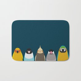 Five birds - tori no iro Bath Mat