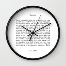 Travel Far and Often Wall Clock