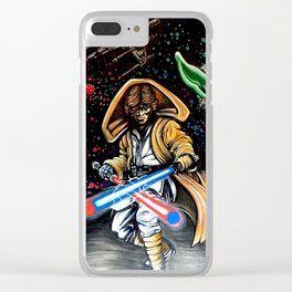 Return of the Jedi Collage Painting by James Rocco Clear iPhone Case