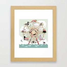 The Sushi Wheel Framed Art Print