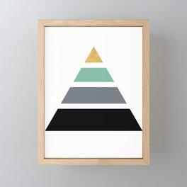 DIVIDED PYRAMID TRIANGLE WIT GOLDEN CAPSTONE Framed Mini Art Print