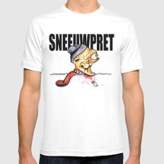 Sneeuwpret (Dutch) MEDIUM Mens Fitted Tee White