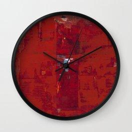 Red Solomon Wall Clock