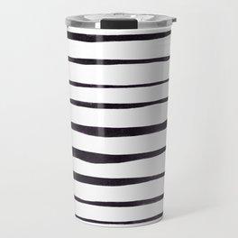 Black Ink Linear Experiment Travel Mug