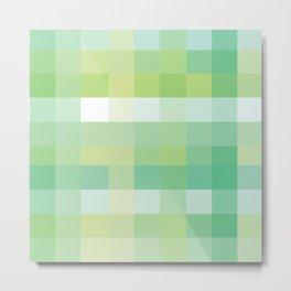 Pixelate Mint Metal Print