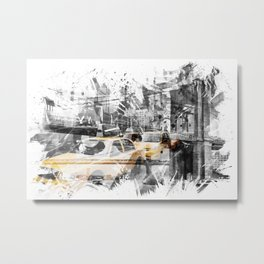 Modern Art NYC Collage Metal Print