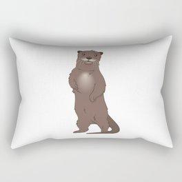 Otter Character Rectangular Pillow