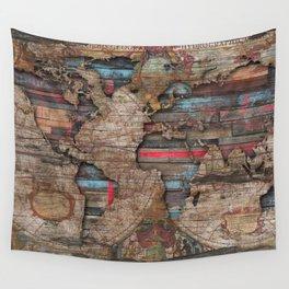 Distress World Wall Tapestry