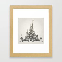 Castle of Dreams s/w Framed Art Print