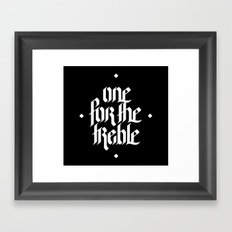 one for the treble Framed Art Print