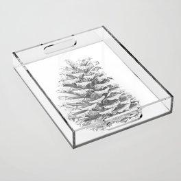 Pine Cone Acrylic Tray