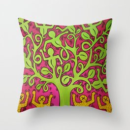 Copy of Tree of Life - Keith Haring Throw Pillow
