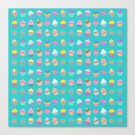 Cupcake sweet dream colourful factory pattern Canvas Print