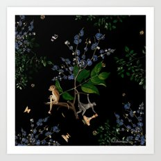 Monkey World: Apy and Vinnie Art Print