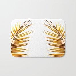 golden palm leaf II Bath Mat