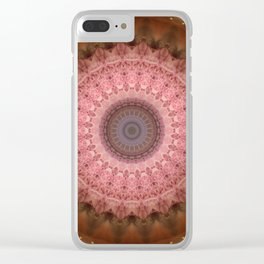 Mandala in brown and pink tones Clear iPhone Case