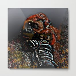 Mommy and Me 2 Metal Print