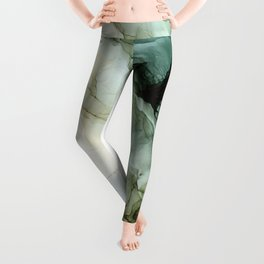 Land and Sky Abstract Landscape Painting Leggings