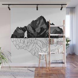 Mountains Bear Wall Mural