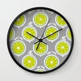 Lime Mod Wall Clock