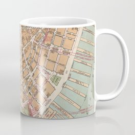 Vintage Map of Lower Manhattan (1921) Coffee Mug
